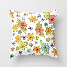 Flowers No. 2 Throw Pillow