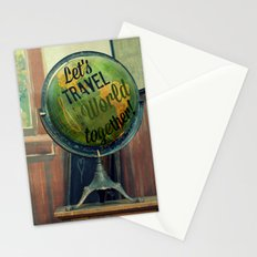 Let's Travel the World Together Stationery Cards