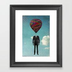 balloon man Framed Art Print