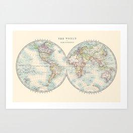 Hemispheres Kunstdrucke
