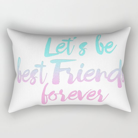 Best Friends Forever pastel typography Rectangular Pillow