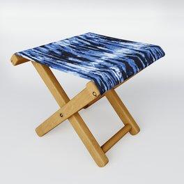 Blue Shibori Z Folding Stool