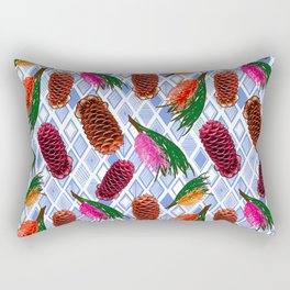 Australian Native Flowers - Grevillea and Beehive Ginger Rectangular Pillow