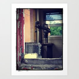 Left Behind When The Building Was Abandoned Art Print