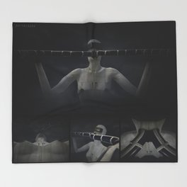 DoublePipe001 Throw Blanket