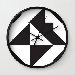 losanges noirs 7 Wall Clock