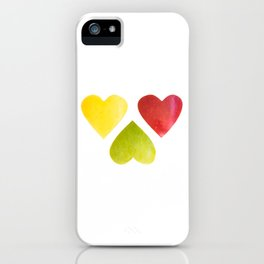 Three heart shaped apples iPhone Case