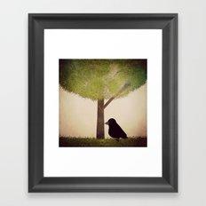 Crow-381 Framed Art Print