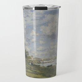 Bassin d'Argenteuil by Claude Monet Travel Mug