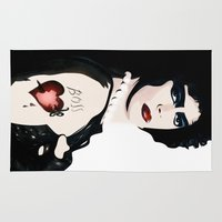 rocky horror Area & Throw Rugs featuring Dr Frank n Furter - Rocky Horror Picture Show by William Cuccio aka WCSmack