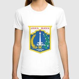 flag of jakarta or Djakarta T-shirt