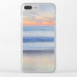 Magical Waves at sunset. Square. Tarifa Beach Clear iPhone Case