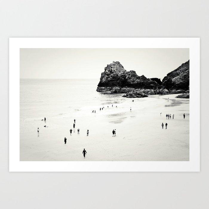 Cornwall beach life Art Print