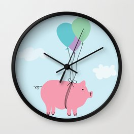 When Pigs Can Fly Wall Clock