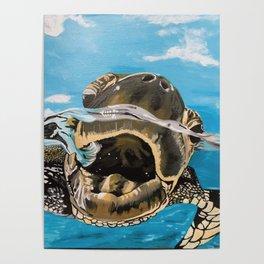 Sea Turtle By Noelle's Art Loft Poster