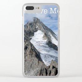Faith Can Move Mountains Clear iPhone Case
