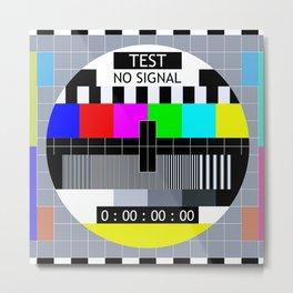 Retro TV Test Pattern Metal Print