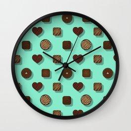 Box of Chocolates Pattern Wall Clock