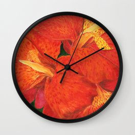 Cana Lily by Teresa Thompson Wall Clock