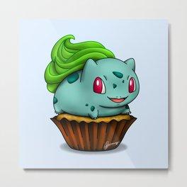 Bulba Cupcake Metal Print