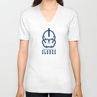 nfl V-neck T-shirts featuring Indianapolis Clones - NFL by Steven Klock