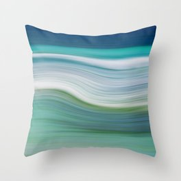 OCEAN ABSTRACT Throw Pillow