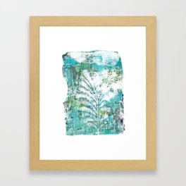 Feathered wall Framed Art Print