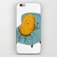 potato iPhone & iPod Skins featuring Couch Potato by Julia Bereciartu