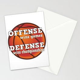 Winning philosophy for team sports (no background) Stationery Cards