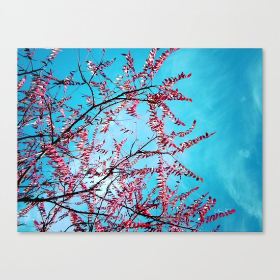 Cyan Sky Canvas Print