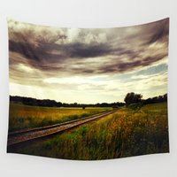 train Wall Tapestries featuring Train Route by Alan Pary