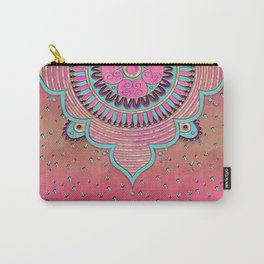 India Pink Mandala Pattern Carry-All Pouch