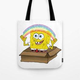 spongebob squarepants imagination Tote Bag