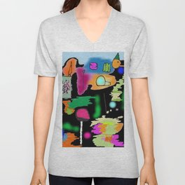 The distracted piglet Unisex V-Neck