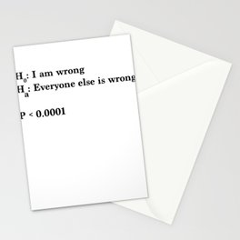 Statistics and Data Science - Alternative Hypothesis is True Stationery Cards