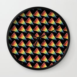 PIZZA RAINBOW PATTERN Wall Clock
