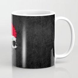 Flag of Iraq on a Chaotic Splatter Skull Coffee Mug
