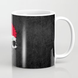Flag of Iraq on a Chaotic Splatter Skull Coffee Mug