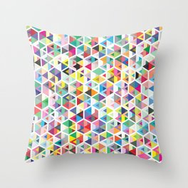 Cuben Colour Craze Throw Pillow
