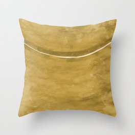 Cohesion Watercolor Print in Yellow Throw Pillow