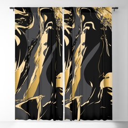 Dark and gold marble Blackout Curtain