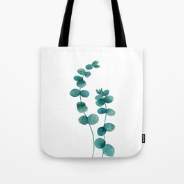 green eucalyptus watercolor Tote Bag