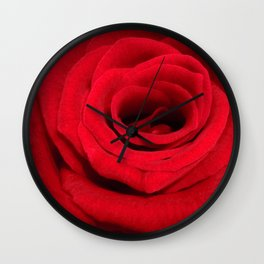 Expansion red rose flower Wall Clock
