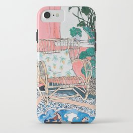 Cane Chair in Pink Interior iPhone Case