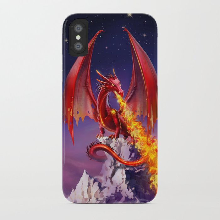 top fashion a57ba 86916 Red Dragon iPhone Case by antracit