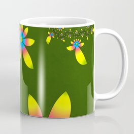 Green Floral Dance Coffee Mug