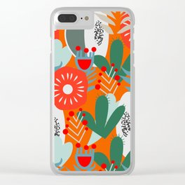 Cacti, fruits and flowers Clear iPhone Case