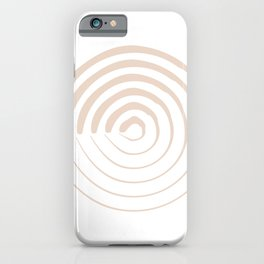 Spiral of Resilience Beige Blush 1 of 3 iPhone Case