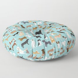 Dogs pattern print must have gifts for dog person mint dog breeds Floor Pillow
