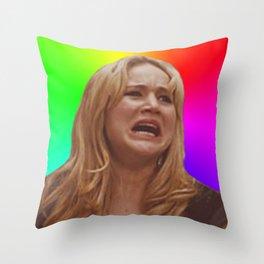 Jennifer Lawrence Rainbow Derp Throw Pillow